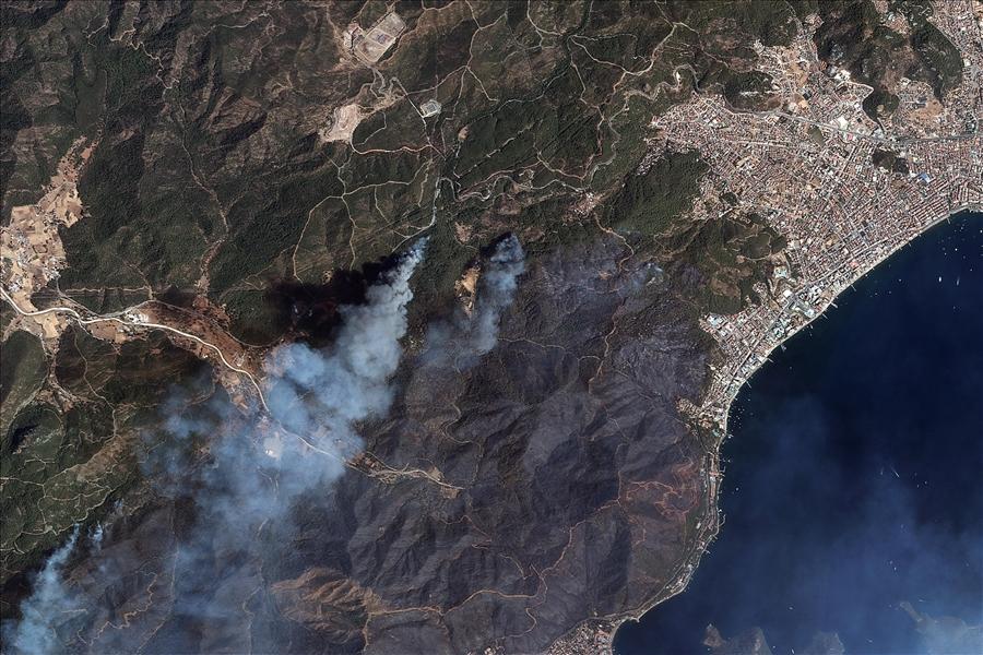 Сгоревшие леса в Турции видны из космоса (фото)