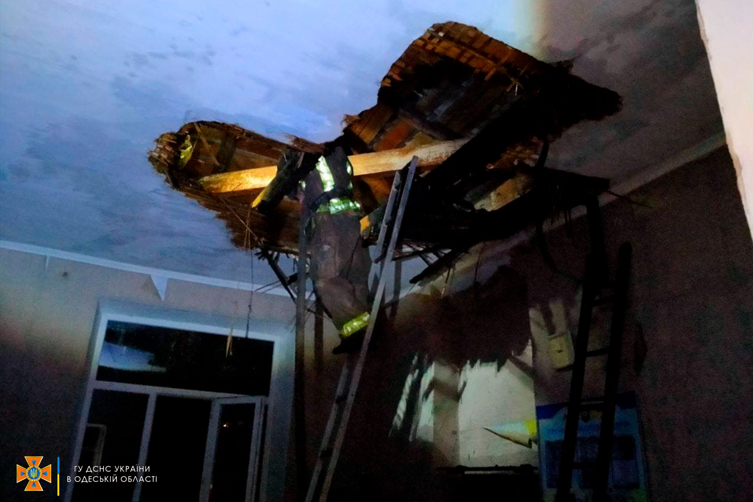 В Одесской области горела общеобразовательная школа