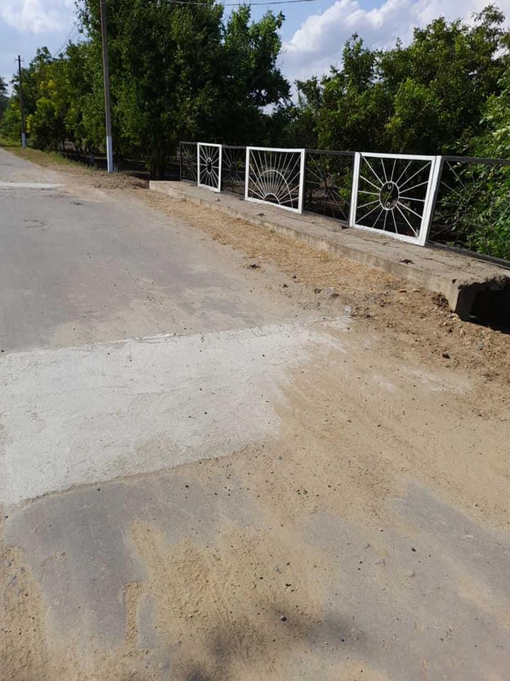 В селе Килийской громады отремонтировали разрушенные ливнем мосты