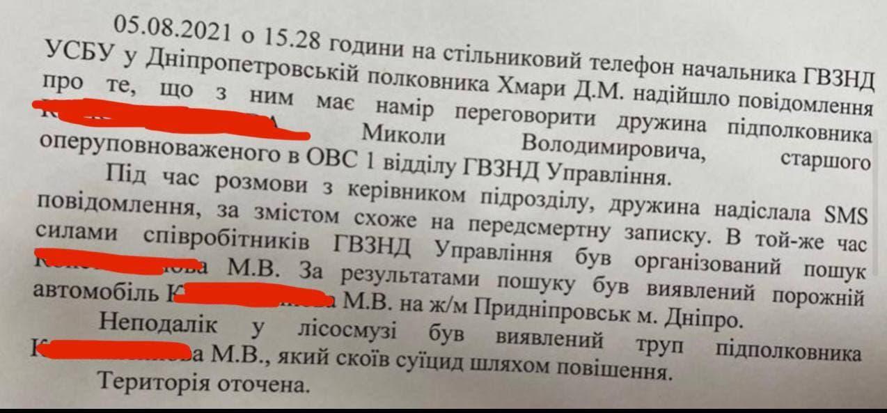 Еще один повешенный: в Днепре покончил с собой подполковник СБУ - в своей смерти он обвинил начальство