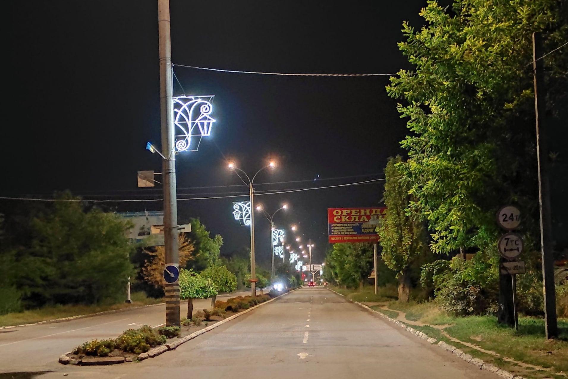 Визитная карточка: въезд в Аккерман украсили декоративным освещением