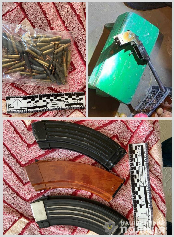 """В Измаильском районе обнаружили пять """"точек"""" с оружием и патронами"""