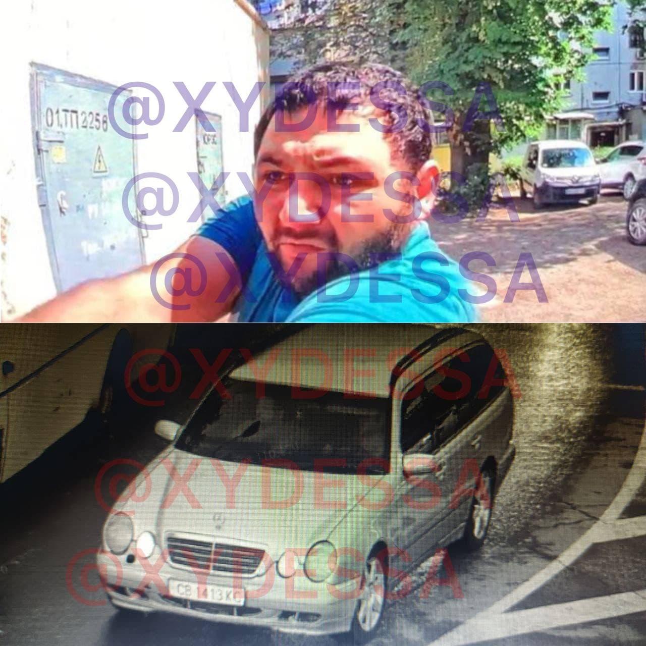 Убийство средь бела дня в Одессе: запечатлено лицо стрелявшего и автомобиль, на котором скрылся преступник