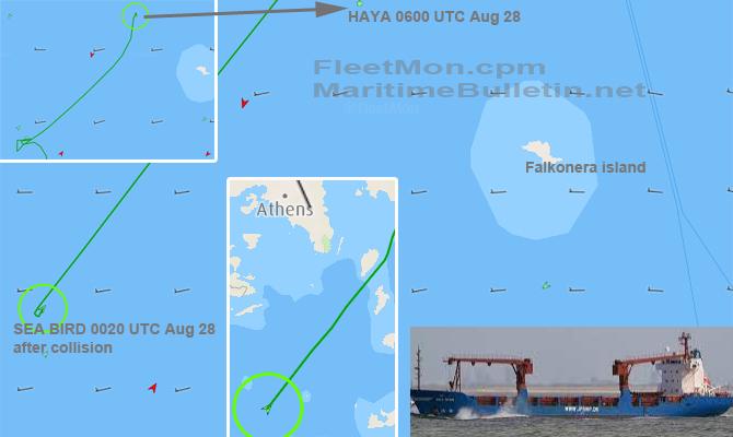 У берегов Греции затонуло судно с украинской пшеницей
