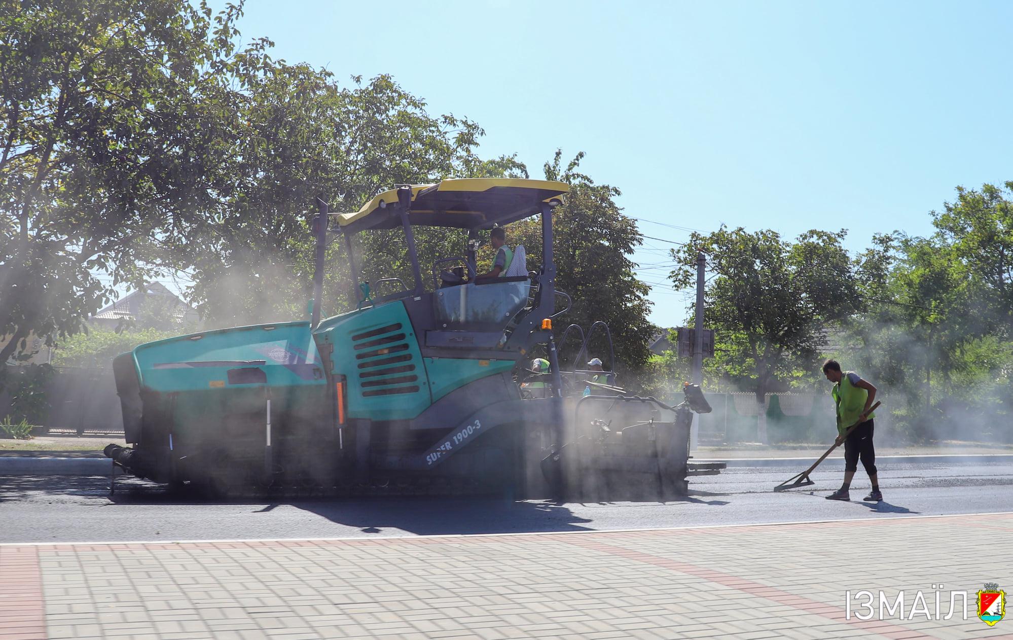 В Измаиле из-за капремонта дороги временно ограничено движение транспорта на выезде в сторону Одессы